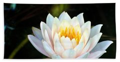 Elegant White Water Lily Bath Towel