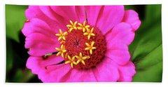 Elegant Zinnia Flower Pink Tones Bath Towel