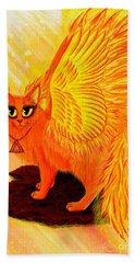 Elemental Fire Fairy Cat Hand Towel