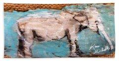 Elephant Hand Towel by Ann Michelle Swadener