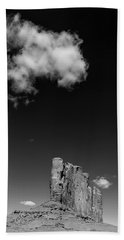 Elephant Butte In Black And White Bath Towel by David Cote