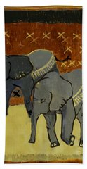 Elephant Calves Bath Towel