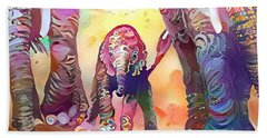 Elephant Delight 1 Hand Towel