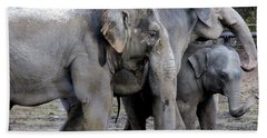 Elephant Family Hand Towel
