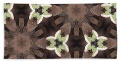 Elephant Flowers Hand Towel by Maria Watt