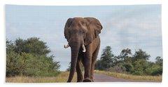 Elephant In Kruger Hand Towel