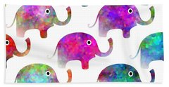 Elephant Parade - Children Pattern Hand Towel