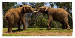 Elephant Play 3 Hand Towel
