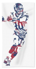 Eli Manning New York Giants Pixel Art 10 Bath Towel