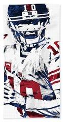 Eli Manning New York Giants Pixel Art 5 Bath Towel