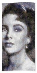 Elizabeth Taylor By Sarah Kirk Hand Towel
