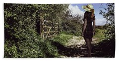 Eliza's Walk In The Countryside. Hand Towel