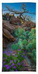 Elk Mountain Flowers Bath Towel