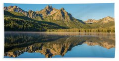 Elk Mountain Reflections With Merganser Ducklings Hand Towel