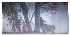 Elk Neck Scratch Bath Towel