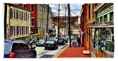 Ellicott City Sidewalk Bath Towel