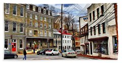 Ellicott City Streets Bath Towel