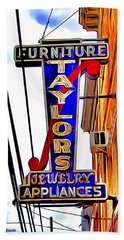 Ellicott City Taylor's Sign Bath Towel