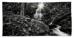 Elora Falls In Black And White Bath Towel