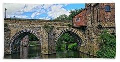Elvet Bridge, Durham City, England Bath Towel