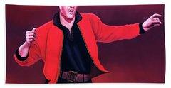 Elvis Presley 4 Painting Hand Towel