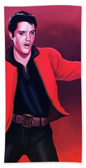 Elvis Presley 4 Painting Hand Towel by Paul Meijering