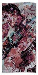 Elvis Presley Collage Art 01 Hand Towel by Gull G