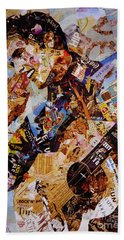 Elvis Presley Collage Art  Hand Towel by Gull G