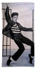 Elvis Presley Jailhouse Rock Bath Towel