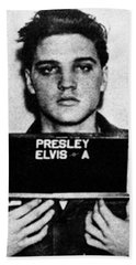 Elvis Presley Mug Shot Vertical 1 Wide 16 By 20 Hand Towel