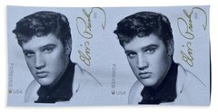 Elvis Stamps Bath Towel by Caroline Stella