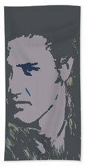 Bath Towel featuring the painting Elvis The King by Robert Margetts