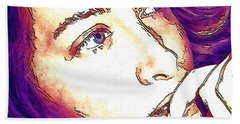Hand Towel featuring the digital art Ely by Ely Arsha