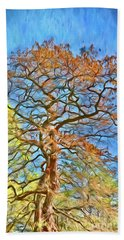 Hand Towel featuring the photograph Embraced By Autumn by Kerri Farley