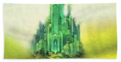 Emerald City Hand Towel by Mo T