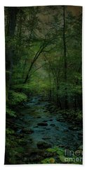 Emerald Creek Hand Towel by Lena Auxier