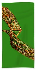 Hand Towel featuring the digital art Emerald Wings by Asok Mukhopadhyay