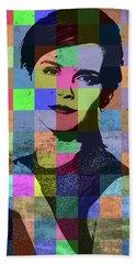 Emma Watson Pop Art Patchwork Colorful Portrait Bath Towel