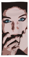 Emotive Pop Art Hand Towel