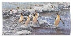 Emperor Penguins Hand Towel