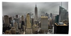 Empire State Building Hand Towel by Martin Newman