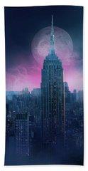 Empire State Building Moonlight Bath Towel