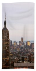 Empire State Building No.2 Hand Towel by Zawhaus Photography