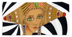 Empress Exotica -- Whimsical Exotic Woman Hand Towel