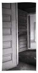 Hand Towel featuring the photograph Empty Doors by KG Thienemann