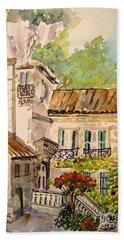 En Plein Air At Moulin De La Roque France Bath Towel by Joanne Smoley