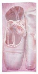 En Pointe Bath Towel by Iryna Goodall