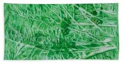 Encaustic Abstract Green Foliage Hand Towel