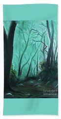 Enchanted Forest Hand Towel by Derek Rutt