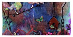 Enchanted Patchwork Hand Towel by Donna Blackhall